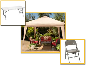 Table, Chairs, and Gazebo